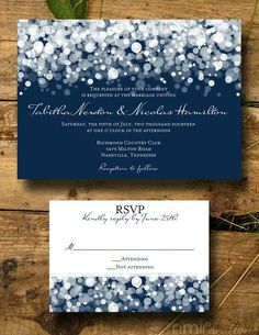 modern wedding wishing well rsvp stationery in black and white