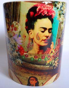 caneca porcelana frida kahlo - mod. 08