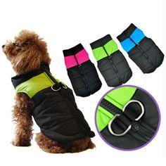 Waterproof Winter Warm Dog Clothes Pet Vest Jacket Coat For Small Medium Large Dogs roupas para cachorro