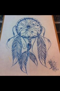 Dream catcher tattoo idea