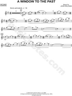 """A Window To the Past - Flute"" from 'Harry Potter and the Prisoner of Azkaban' Sheet Music (Flute Solo) - Download & Print"