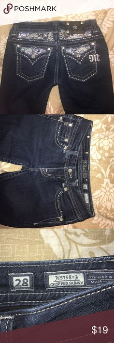 miss me jeans Very well taken care of jeans. They're cropped and skinny! Miss Me Jeans Skinny