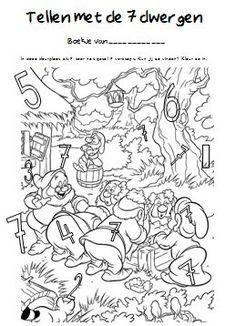 Sprookjes | Juf Anke lesidee kleuters werkboekje tellen tot 7