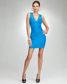 bebe Lace V Neck Dress $129.00 #Fashion #Style