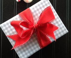 Grey Gingham Premium Wrapping Paper by Paperjacks on Etsy, $7.99