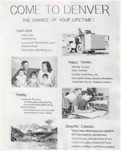 Relocation BrochureBureau of Indian Affairs relocation brochure distributed to Native Americans, 1950s. Although some Native American chose to move off reservations to urban areas, fifty percent returned home to their families and reservations within five years because of a lack of job opportunities, education, and social services.