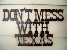 Don't Mess With Texas Decor