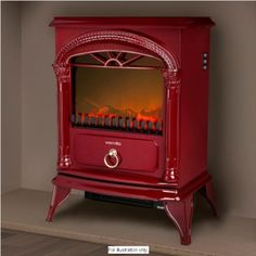 Warmlite Stove Effect Fire - Red £69.99