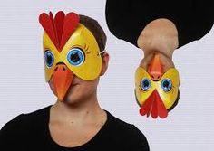 paper plate rooster mask - Google Search