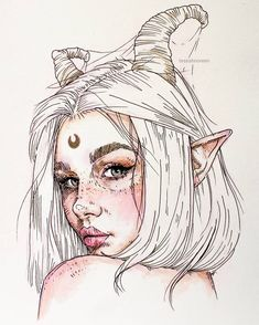 art inspo Rate this Which one is your favorite Artist: tessahnoreen Shared by Alexander_esin Email or DM for promotion/business us for more art: Art. Pencil Art Drawings, Art Drawings Sketches, Cute Drawings, Drawings Of Girls, Unique Drawings, Fantasy Drawings, Sketch Art, Tattoo Sketches, Art And Illustration