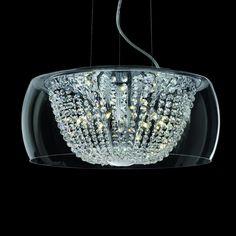 Kristall Hängeleuchte AUDI-60 Ø50cm chrom 11-flammig: Amazon.de: Beleuchtung