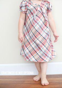 plaid lizzy dress ||  pattern by Sew Like My Mom