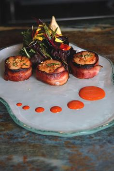 Fly 'N' Fish Oyster Bar & Grill Bacon wrapped scallops