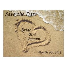 Beach Wedding Save the Date invitations