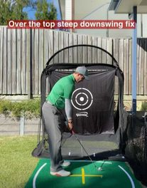 Hitting It Solid shares a simple to drill to fix your over the top downswing and stop slicing. Golf Slice, Golf Books, Golf Chipping, Best Golf Courses, Golf Instruction, Golf Putting, Golf Exercises, Golf Training, Over The Top