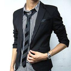2015 New Arrival Spring Autumn Blazer Men Suit Casual Blazers Jacket Slim Fit Mens Blaser Masculino Jackets Plus Size S-XXXL