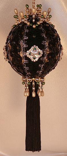 Victorian Christmas Ornaments | Heirloom Christmas Ornaments - Victorian Blue and Gold Ornament ...