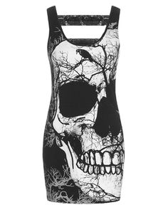 Skull Cut Out Back | DRESS