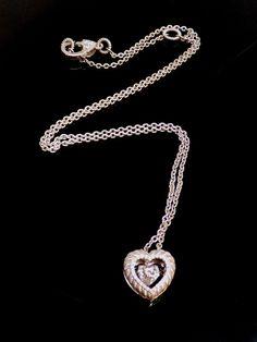 Judith Ripka Diamonique Cubic Zirconia Sterling Silver Twinkle Heart Necklace #JudithRipka #Pendant