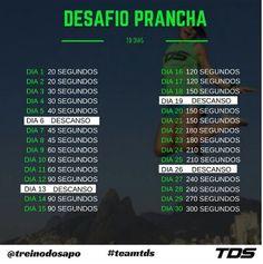 Desafio da prancha - 30 dias