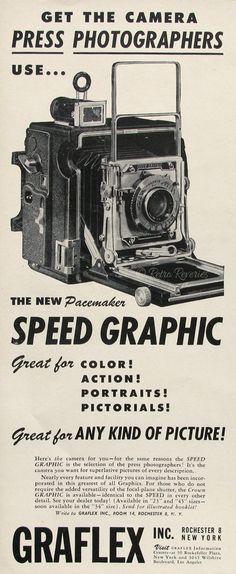 1947 Pacemaker Speed Graphic Camera Graflex by RetroReveries