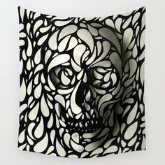 Skull+Wall+Tapestry+by+Ali+GULEC+-+$39.00