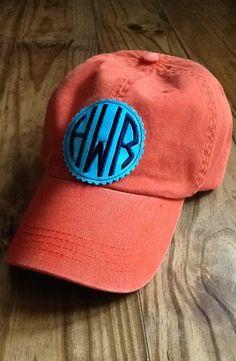 Ladies Monogrammed Hat by KBJsMonogram on Etsy, $24.00