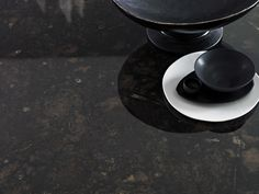 Benchtop Laminex 180fx Black Fossilstone DiamondGloss finish. Styling Suki Ibbetson. Photography Earl Carter.