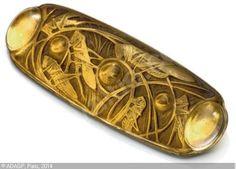 R.Lalique -Sauterelles et Cabochon Brooch - Sothebys