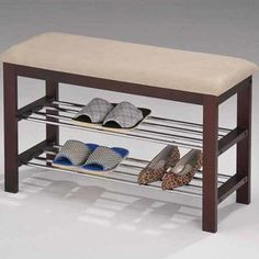 InRoom Designs Shoe Rack Bedroom Hallway Bench