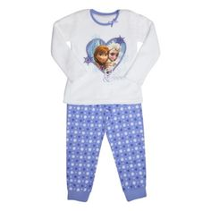 Disney Frozen pyjamas with fluffy top and printed bottoms