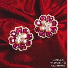 Jewelry Design Earrings, Gems Jewelry, Necklace Designs, Stone Jewelry, Etsy Earrings, Jewelery, Silver Jewellery Indian, Indian Wedding Jewelry, Bridal Jewelry
