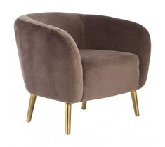Louxor Grey Velvet Round Armchair with gold tapered legs. Boutique and chic styling. UK delivery available today. Velvet Armchair, Tub Chair, Armchairs, Fashion Boutique, Accent Chairs, Legs, Elegant, Chic, Metal