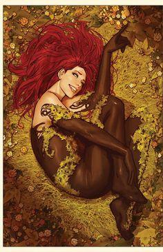 Galaxy Fantasy: Encantador fan art de Poison Ivy