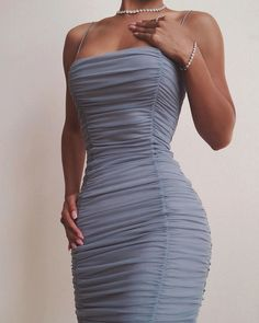 Spaghetti Strap Ruched Bodycon Dress, Source by dowjessika dress outfits Hoco Dresses, Dress Outfits, Fashion Dresses, Dress Prom, Dress Long, Dress Formal, Night Outfits, Homecoming Dresses, Fashion Clothes