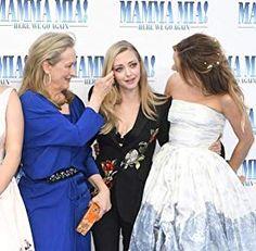 Mamma Mia, Amanda Seyfried Tattoo, Matt Smith Lily James, Best Friend Tag, Meryl Streep, Bridesmaid Dresses, Wedding Dresses, Gal Gadot, Celebs