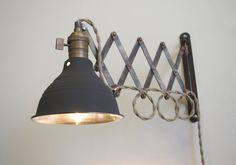 Industrial Scissor Articulating Wall Lamp Light  by LongMadeCo, $169.00