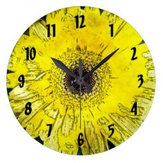 Water Color Yellow Daisy Clocks from Florals by Fred #zazzle #gift