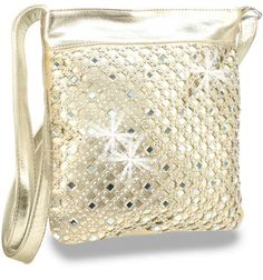 Rhinestone Design Layered Cross Body Sling - Only $16.00 w/ $100 min. order! A detailed diamond pattern of tiny sparkling rhinestones and square, beveled mirror tiles decorate a die cut layer on the front panel of this trendy cross body sling.  http://www.handbagexpress.com/item.php?ItemID=BJT-106-BK #wholesalefashion #wholesalehandbags #handbags #ladiesfashions