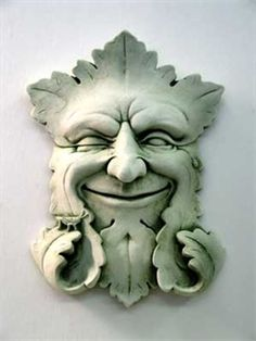 Garden Smile Plaque - Carruth Studio...Green Man of the forest