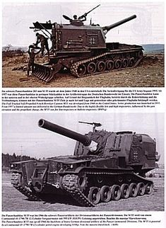 West German M55 with 203mm howitzer