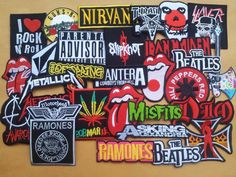 Lot of 30 Iron On Patch Sew Wholesale Music Band Metal Punk Rock n Roll DIY   VV  Unbranded f67efdbe88