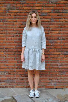 Pre mamu : Sivé šaty so zapínaním vzadu Slow Fashion, Heavenly, White Dress, Dresses, Products, Vestidos, Dress, Gown, Gadget