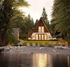 The voice of the Prefab Timber Homes Industry in Europe. The meeting place for architects, buyers and manufacturers. A Frame Cabin, A Frame House, Plan Chalet, French Style Homes, European Home Decor, Timber House, Prefab Homes, Modular Homes, Cabins In The Woods