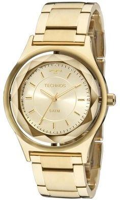 f267e2732 Relógio Technos Feminino Swarovski Elegance Crystal 2035MIC/4X