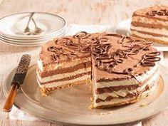 Koelkaskaaskoek Bestanddele Kors 200 g teekoekies 50 g botter, gesmelt Vulsel 15 ml e) gelatien 125 ml (½ k) koue water 30 ml e) kakao ml (½ t) kitskoffiekorrels 60 ml (¼ k) kookwater 375 ml k) room 385 ml blik) kondensmelk Fridge Cheesecake Recipe, No Bake Chocolate Cheesecake, Cheesecake Pudding, Cheesecake Recipes, Mango Cheesecake, Coffee Cheesecake, Caramel Cheesecake, Tart Recipes, My Recipes