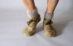 Handknitted woolen socks unisex size medium hand knit by Brownsley, Woolen Socks, Knit Socks, Knitting Socks, Hand Knitting, Socks Men, Cold Feet, Leg Warmers, My Etsy Shop, Pairs