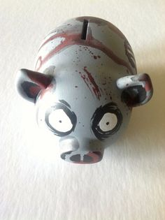 Zombie Piggy Bank by BatFactory on Etsy, $20.00