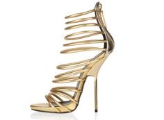 Brand Hot Suede Stiletto High Heel Sandals for Women with Zipper Gold Shoes Gladiator Shoes Sexy Dress Shoes  K024 $98.72