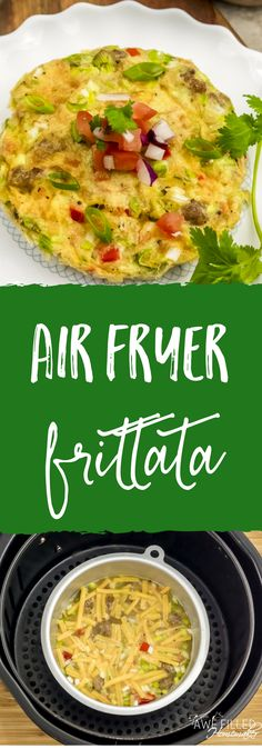 Looking for a delicious low carb recipe? This air fryer frittata is super easy to fix! I love being able to use my air fryer to incorporate low carb options!